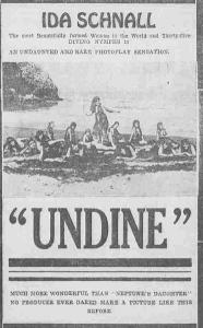 "Ida Schnall in ""Undine"""