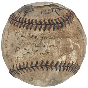 Addie Joss perfect-game ball
