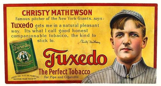 Streetcar placard; Matty for Tuxedo Tobacco