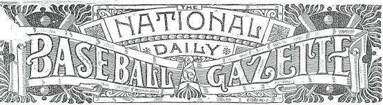Masthead, National Daily Base Ball Gazette