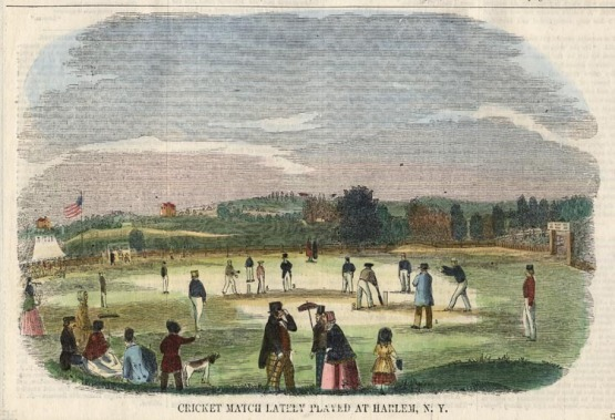 Cricket at Red House, grounds, Harlem, 1851