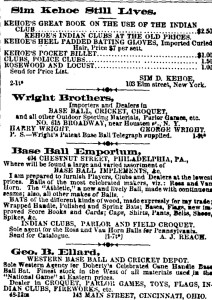 Wright Bros. Sporting Goods; Clipper, April 18, 1868