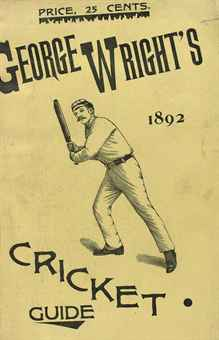 Wright Cricket Guide 1892