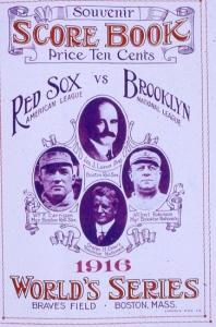 1916 World Series Score Book