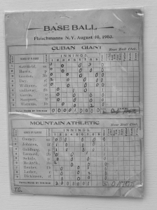 Cuban Giants at Mountain Athletic Club, August 10, 1903